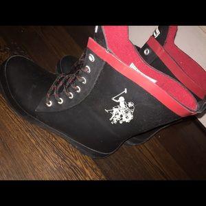 US Polo Assn. size 8M, high rain boots
